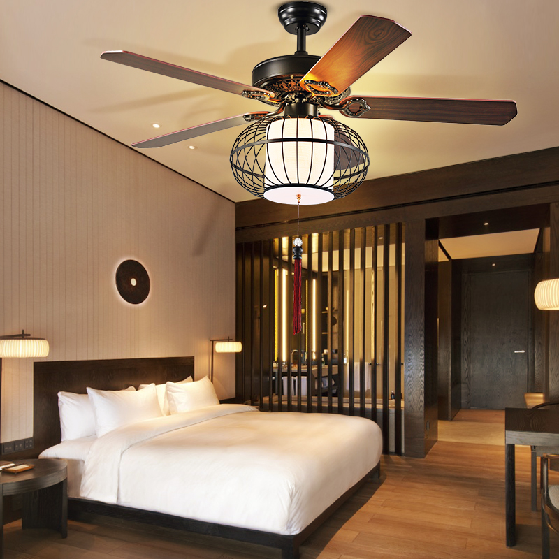 Fan yan restaurant with light ceiling fan light fan lights continental antique living room home simple remote control fanner droplight