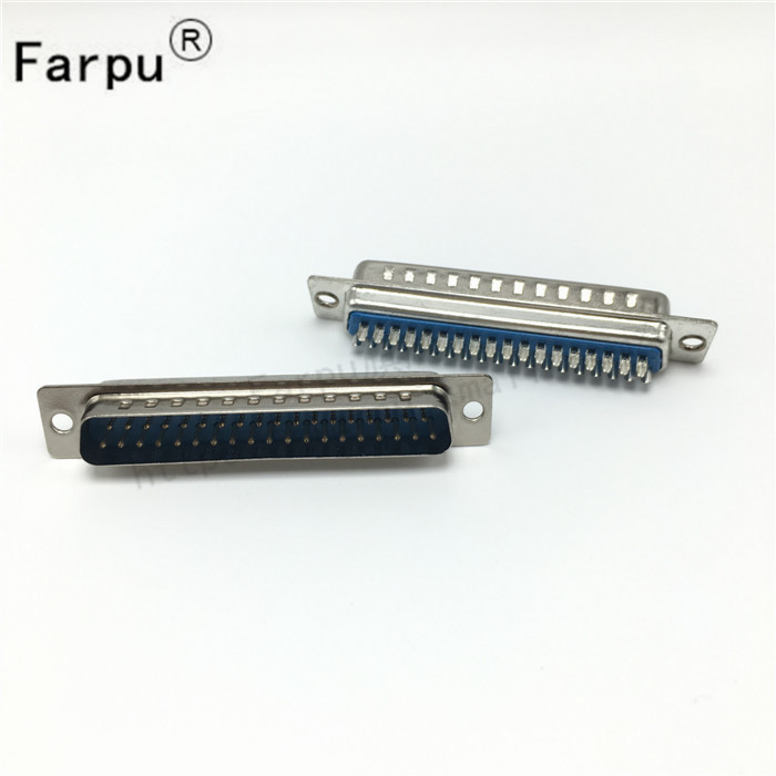 Farpu shu db37 male/female db37 pin/hole double 37 core 37 core wire bonders serial port seat Type