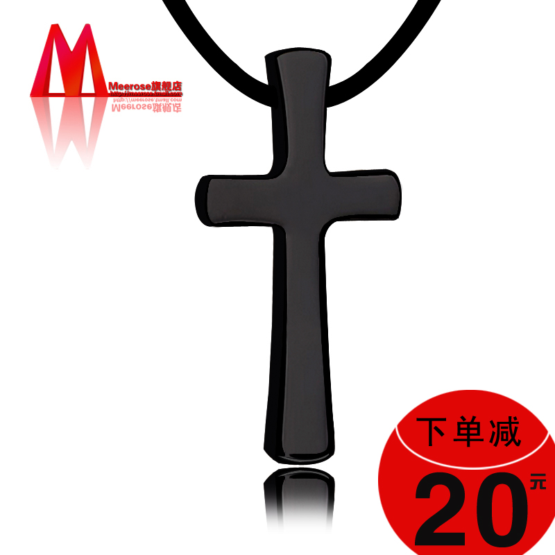 China tungsten cross pendant china tungsten cross pendant shopping get quotations fashion black tungsten gold pendant long section of christian cross necklace men domineering simple jewelry to aloadofball Image collections