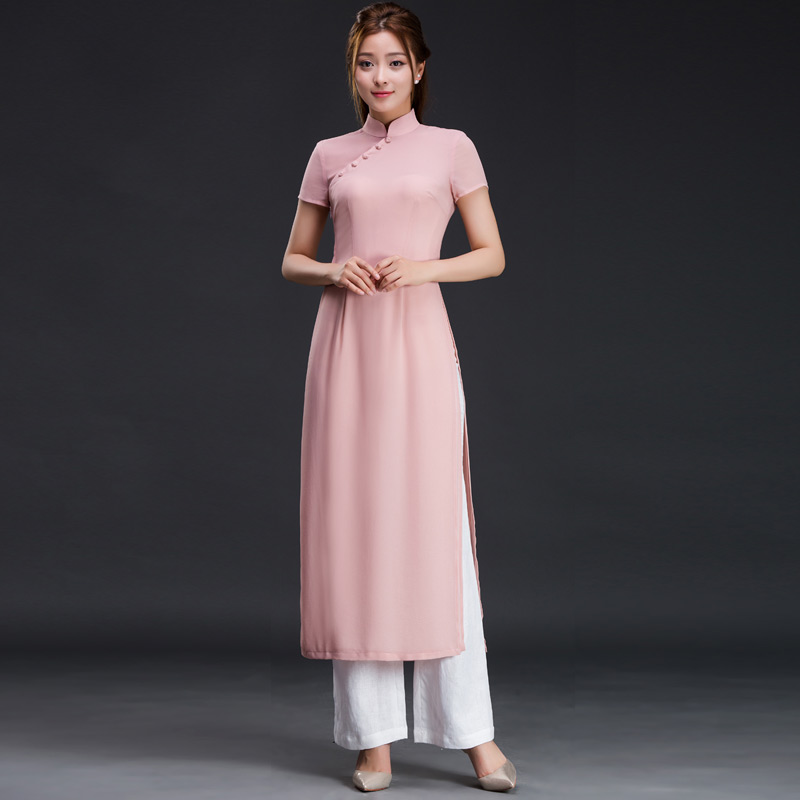 Fashion improved cheongsam dress fashion improved cheongsam dress summer 2016 models temperament national wind slim regards audrey