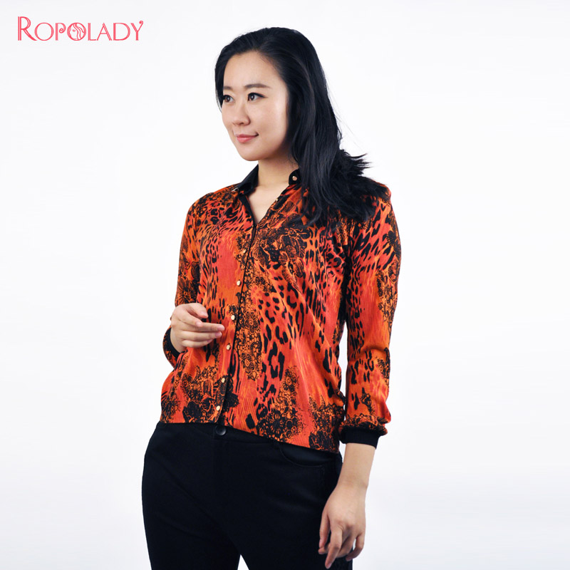 Fat lady fashion temperament slim was thin lapel long sleeve cardigan sweater women short paragraph genuine 4462110