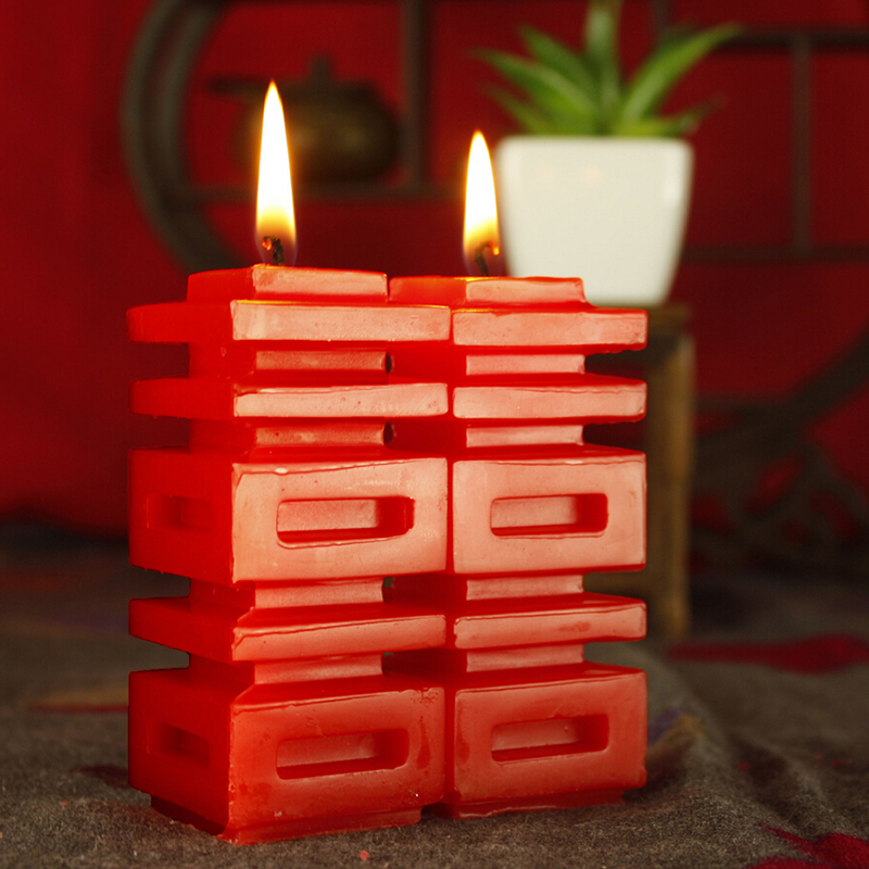 Feast of the classification of retro chinese double happiness word wedding supplies candle candles creative romantic wedding room wedding wedding bridal chamber