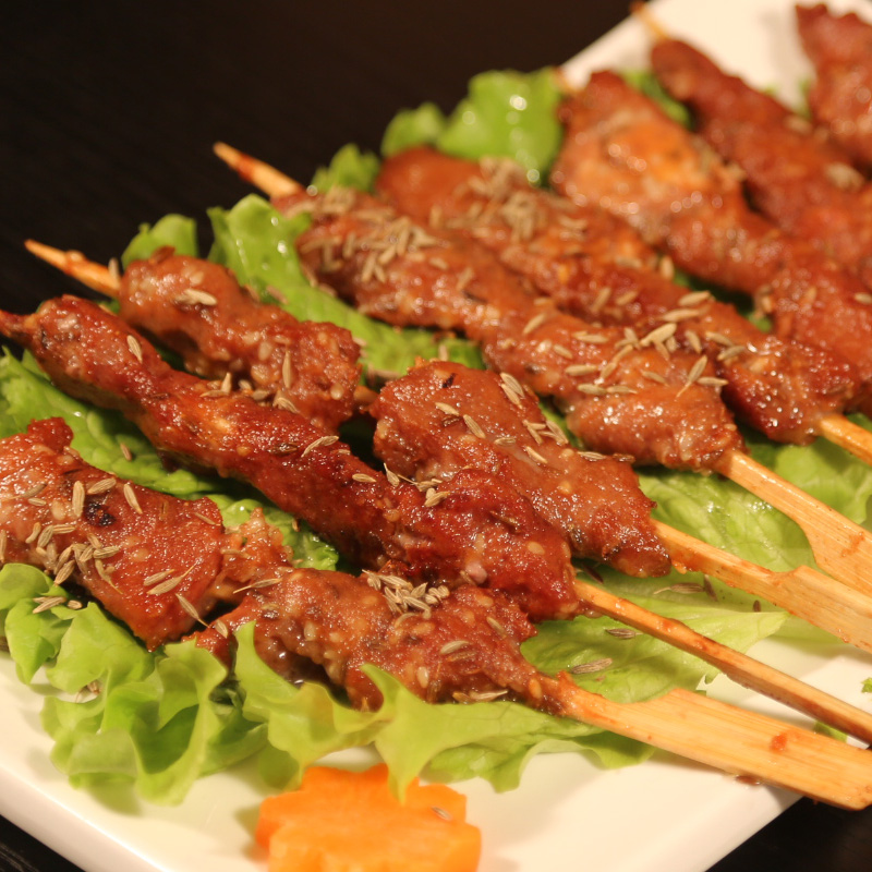Featured donglaishun lamb pure lamb skewers spicy barbecue flavor 400g * 2 fresh halal lamb hot pot ingredients
