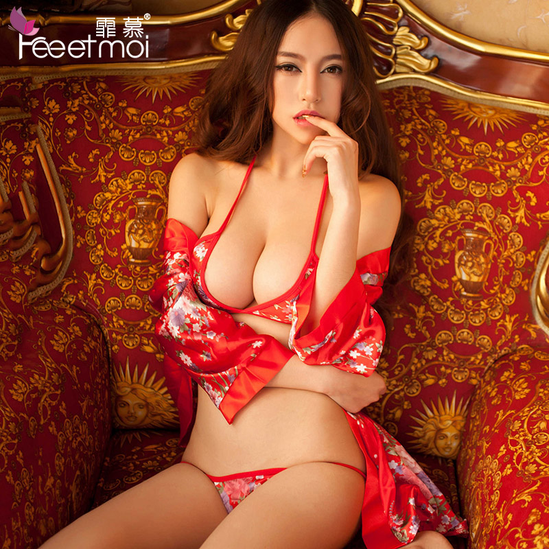 Fei mu big yards bikini transparent chest a kimono suit sm contains adult female adult sexy lingerie uniforms sao