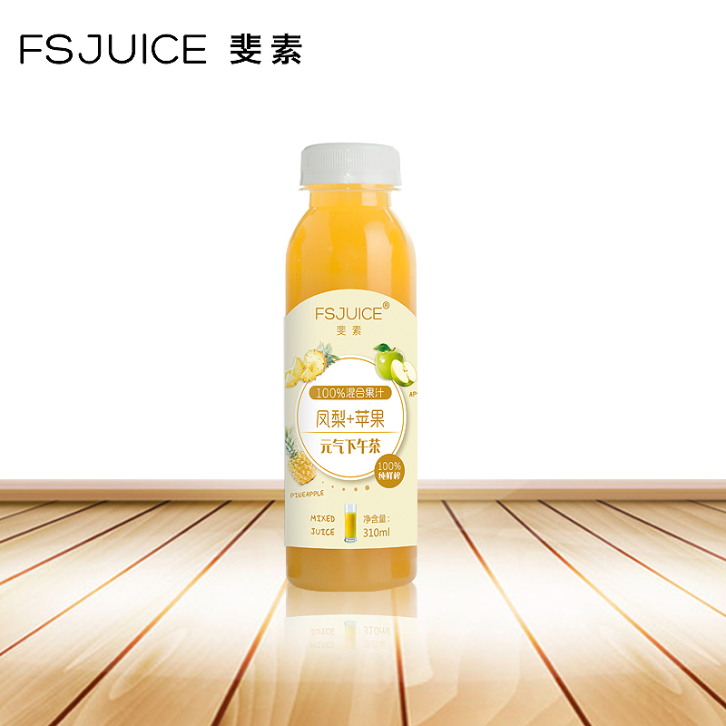 Fei su pure freshly squeezed pineapple apple juice mixed fruit and vegetable juice fasting 310ml without adding