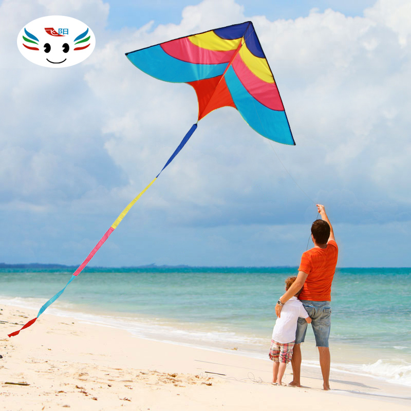 Fei yang rainbow triangle kite kite weifang kite breeze easy to fly good adult children's cartoon reel wind zither