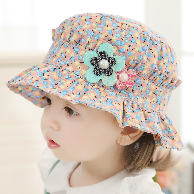 b12dc12cfbc86 Get Quotations · Female baby hat baby hat 1-2-year-old spring and autumn  girls