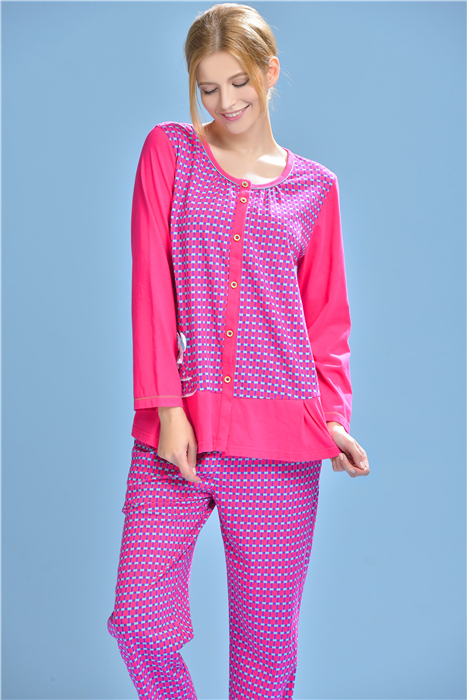Fen teng ms. fen teng tracksuit 2015 spring and autumn new long sleeve knit cotton pajamas suit H8434978
