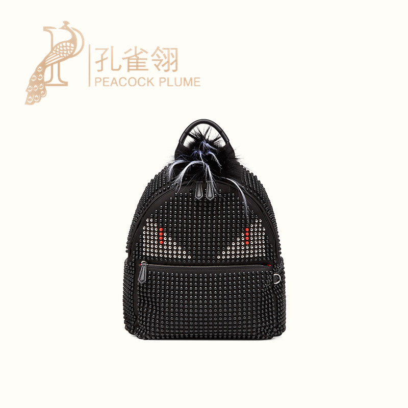 Fendi fendi 2016 new winter black metal decorative little devil shoulder bag 7 v Z0126E2F01FF