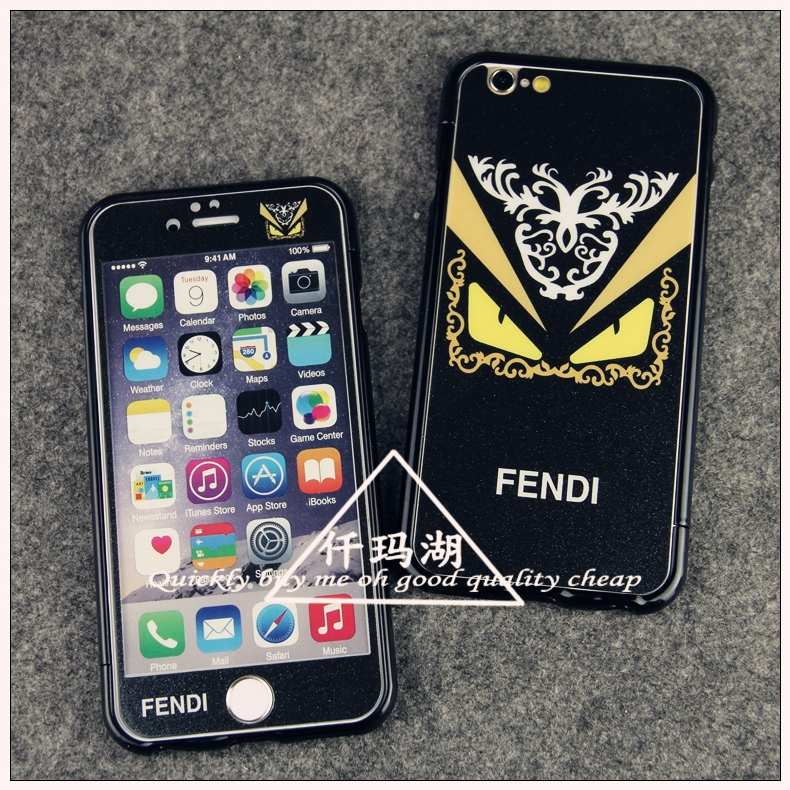 Fendi fendi little devil black color film before and after the film iphone6 tempered steel membrane film 4. apple 7 s cartoon