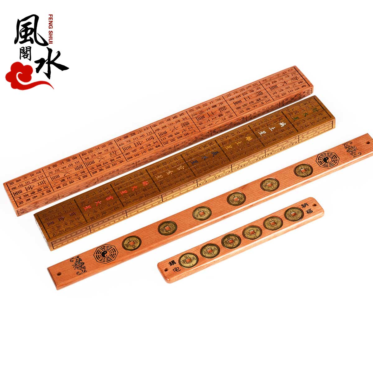 Feng shui court opening mahogany six emperor 46 carpentry ruler feng shui ruler lubanga foot woodiness mantra lucky shipping