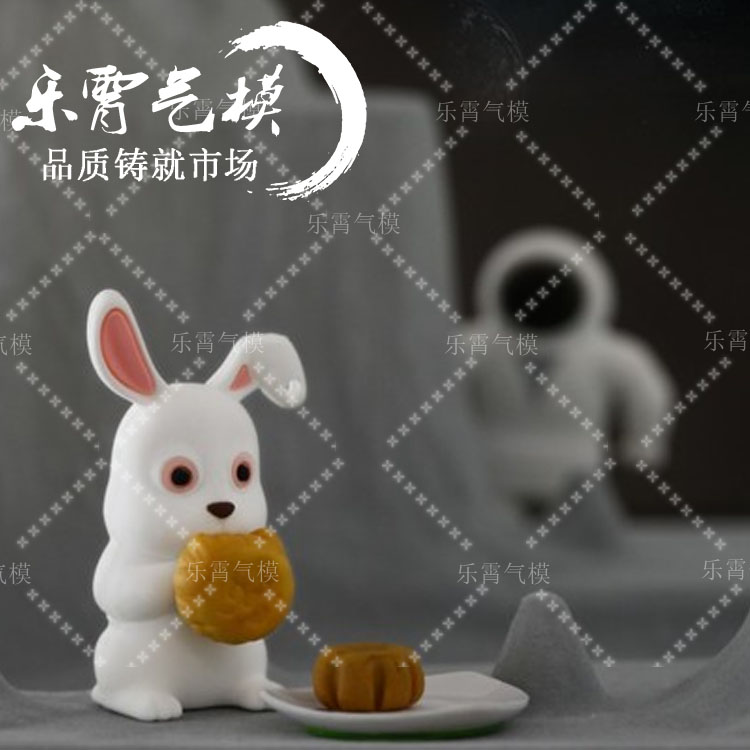 Festival customized vermt rabbit inflatable inflatable inflatable moon cake moon color size custom