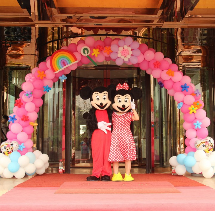 Festive wedding celebration balloon arches opening trick vermt detachable mast base style wedding ceremony props