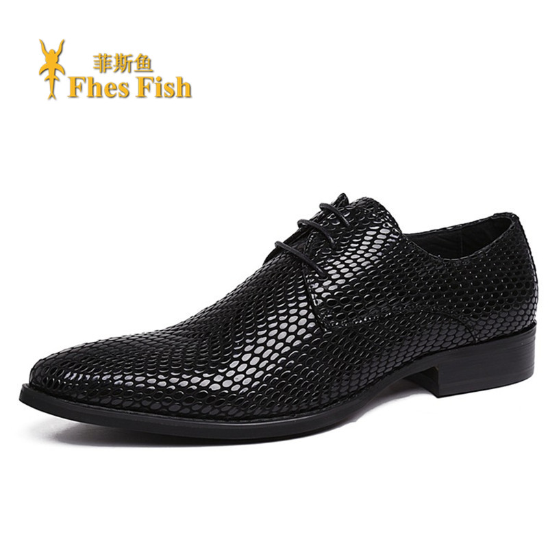 Fhesfish custom 2016 new spring and summer men's casual leather shoes of england pointed shoes to help low