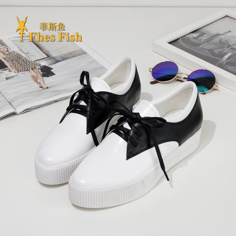 Fhesfish custom 2016 spring and summer new england fashion leather shoes deep mouth round wild lazy shoes