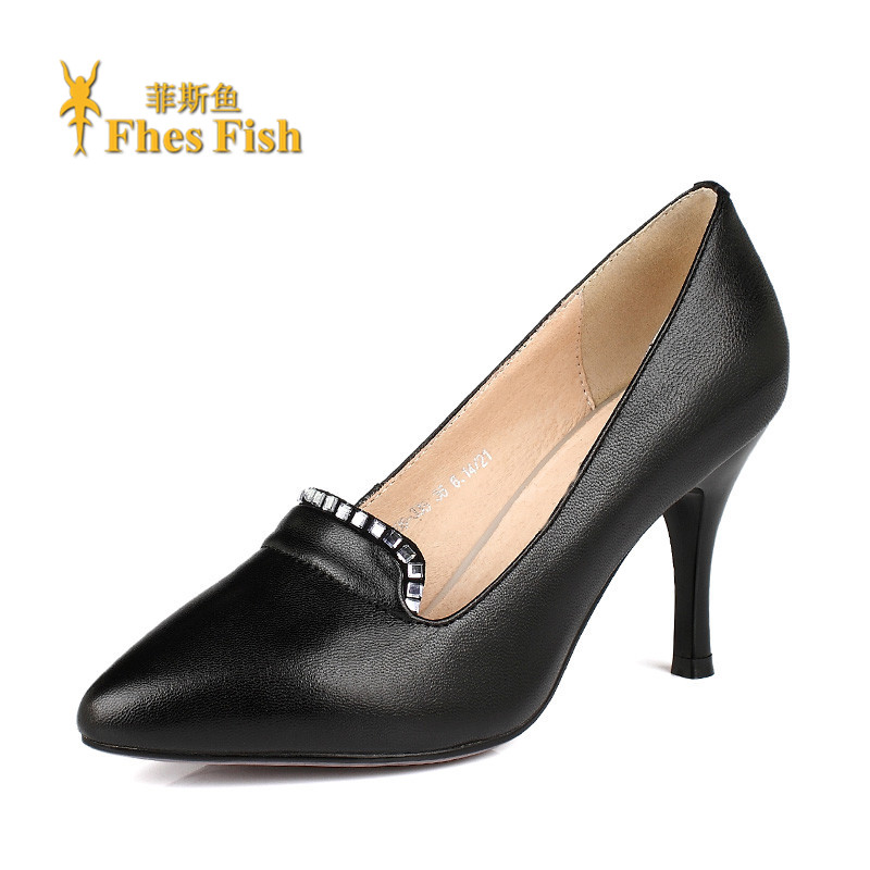 Fhesfish fez fish 2016 spring and summer new diamond fine with shallow mouth pointed sets foot comfortable shoes shoes