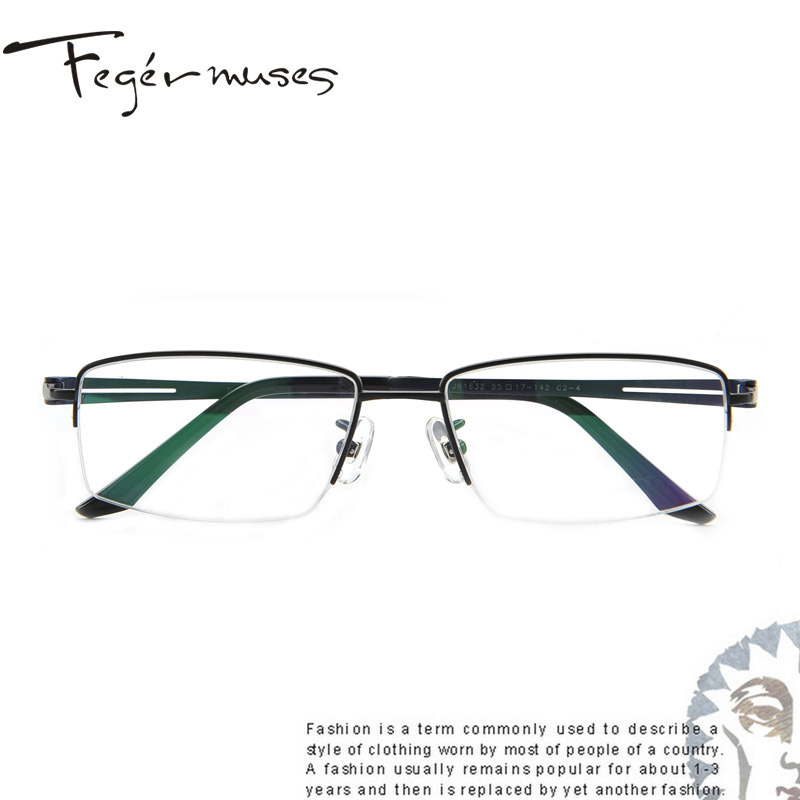 Figueroa mousse genuine male models half frame glasses frame titanium glasses frame glasses myopia mirror frames 81632