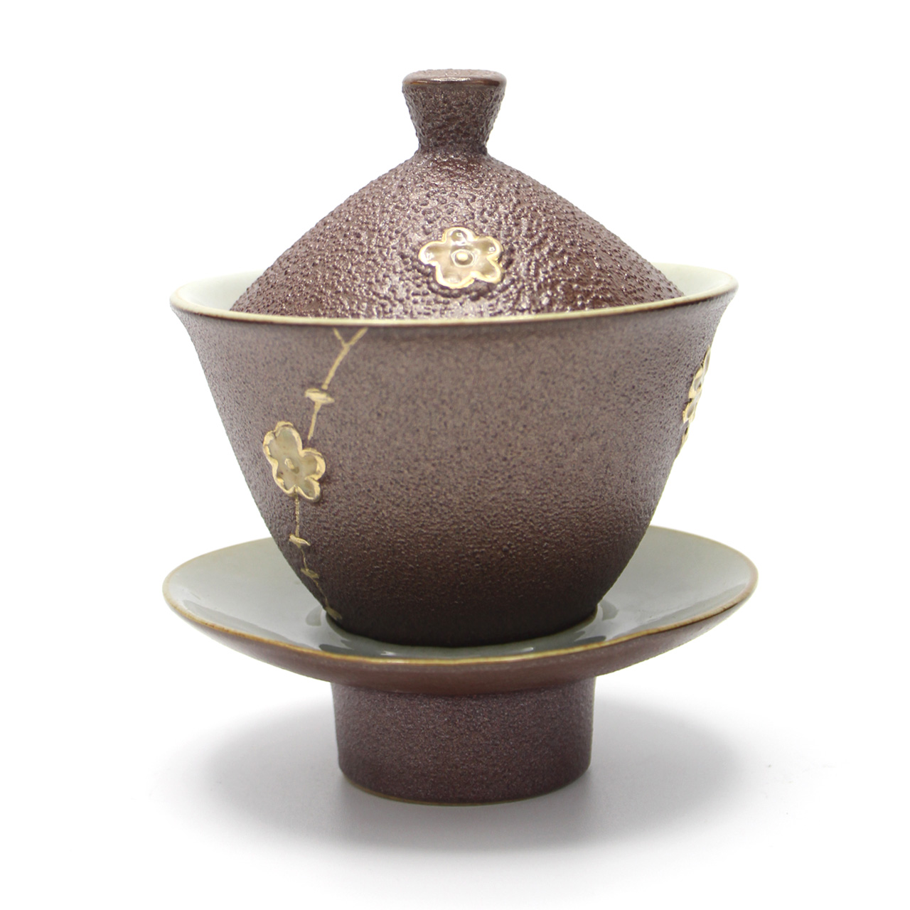 Firewood large tea cup kung fu tea ceramic tureen with god has tureen antique handmade stoneware pottery tureen
