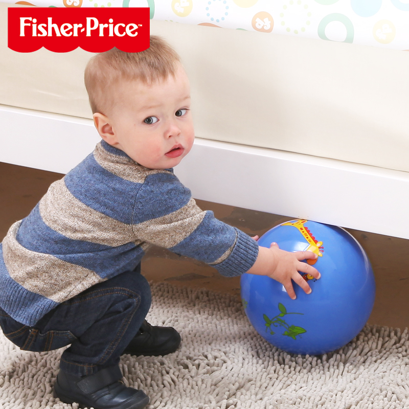 Fisher 9 inch cartoon kindergarten pat the ball inflatable ball ball ball toy ball infants and young children baby toys for children