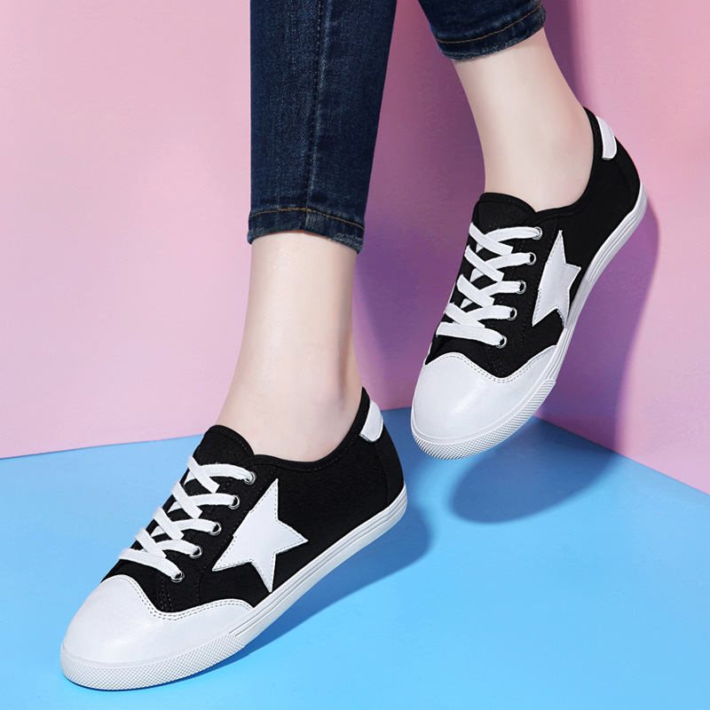 Flat shoes wild shoes women shoes fall 2016 new korean version of the influx of women lace round the influx of students casual shoes