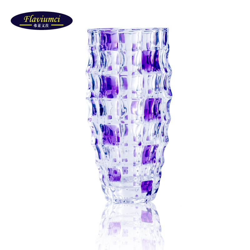 Flavin mainz transparent glass vase lucky bamboo lily flower vase continental passenger hall decorated ornaments move