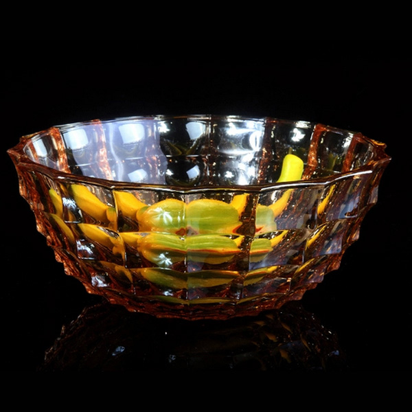Flavin mainz unleaded glass fruit plate fashion suit coffee table wedding colorful sugar fruit plate fruit bowl