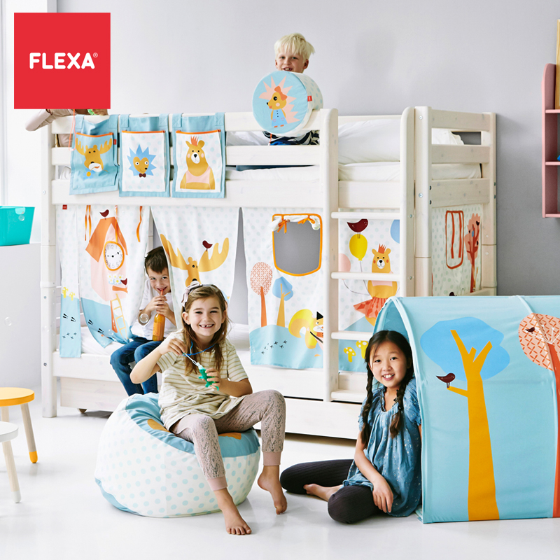 Flexa classic imported solid wood bunk bed/on the bed/bunk bed/child bed adolescent/ Second child