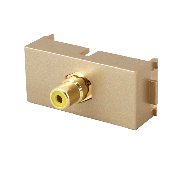 Float too coaxial digital audio coaxial line module socket single av rca video plug straight plug champagne