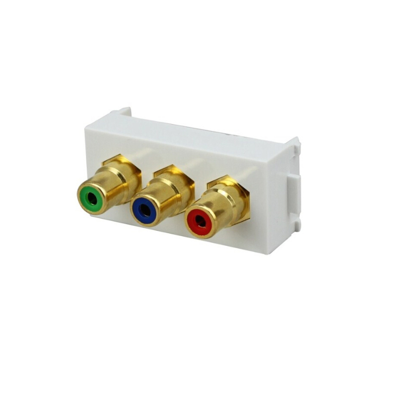 Float too technology chromatism inline module component av component cable wall outlet socket panel 86 type weak