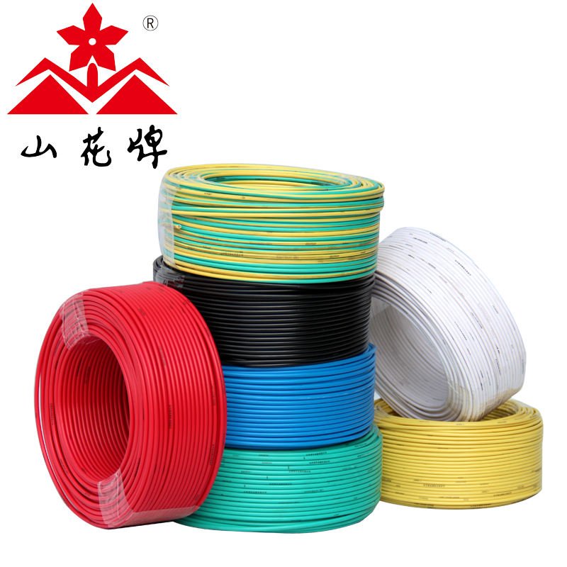 Flowers brand wire and cable nh-bv2.5 refractory square gb copper wire single hard wire copper wire decoration 100 m