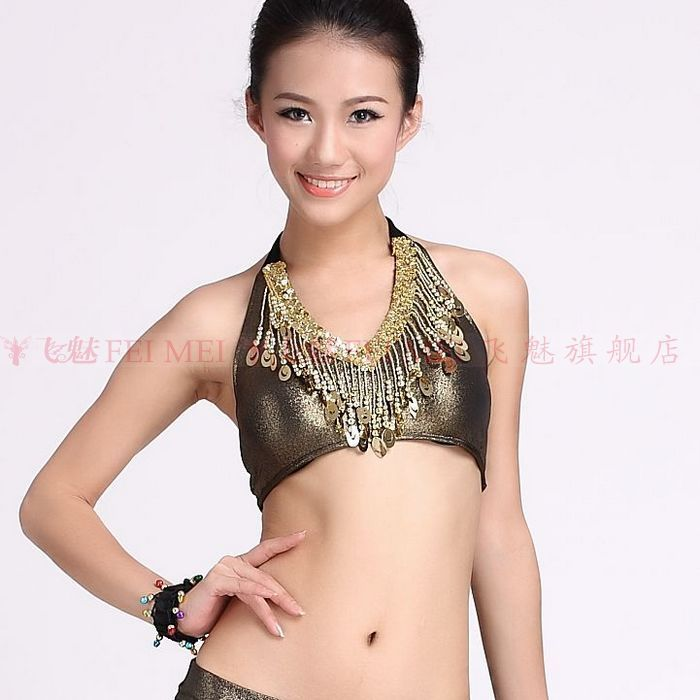 Fly charm belly dance belly dance tops vest peacock hanging coins belly dance belly dance performances shirt chest pad specials