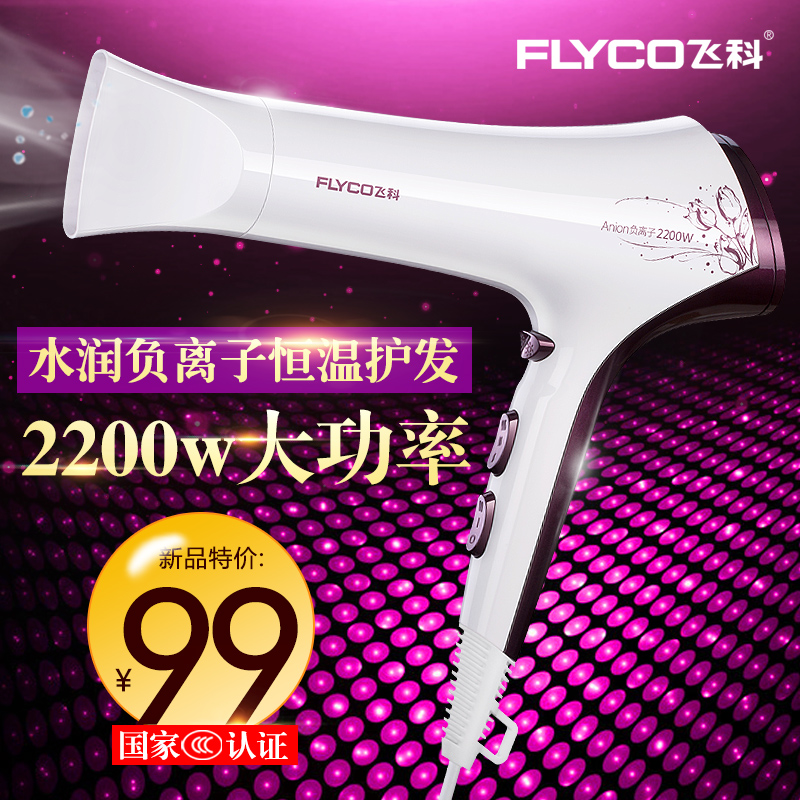 Flyco/flying branch flying branch hairdryer FH6272 w power anion household hair dryer hot and cold wind