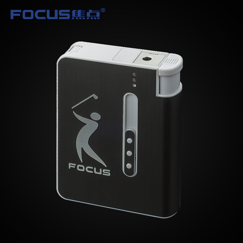 Focus focus cigarette slim cigarette box automatically ejected cigarette lighter creative with a metal cigarette case 8 Dress