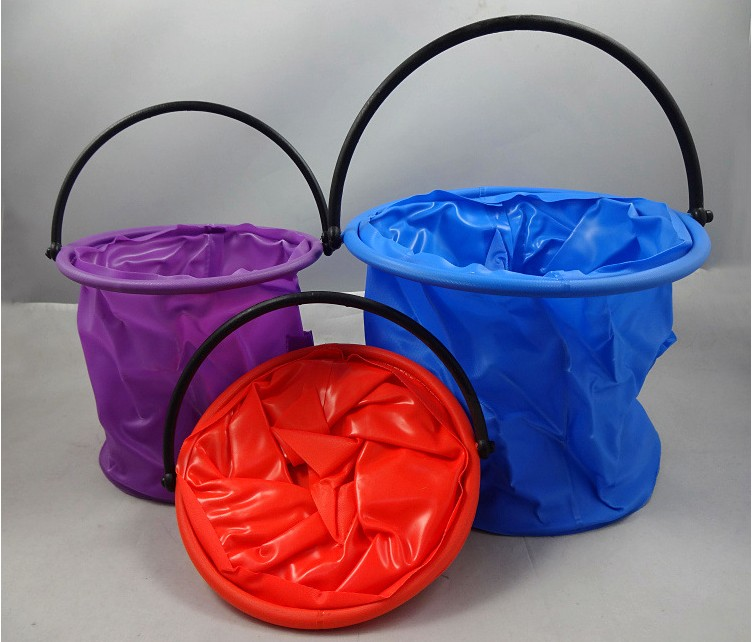 Folding canvas bucket bucket bucket plastic bucket wash pen wash pen barrel art supplies