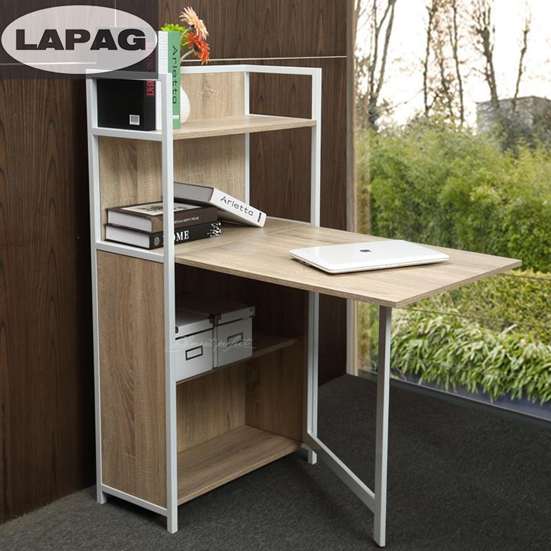 Folding desk small bookcase bookcase desk combination minimalist bedside notebook computer desk desk desk study tables