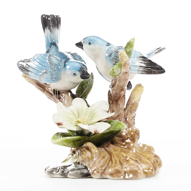 For bird blue bird small ornaments home decorations wedding favor wedding crafts ceramic porcelain blue jays readily gift