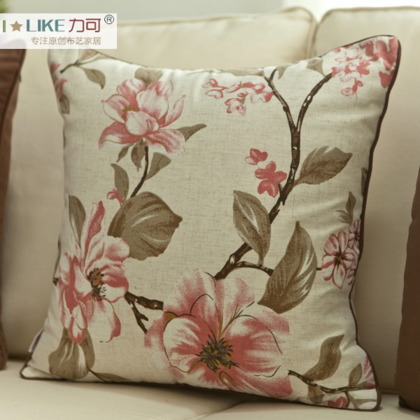 Force can cushion covers/pillow cover pillow cushion pillow without the core american country sofa cloth art #17 Flowers