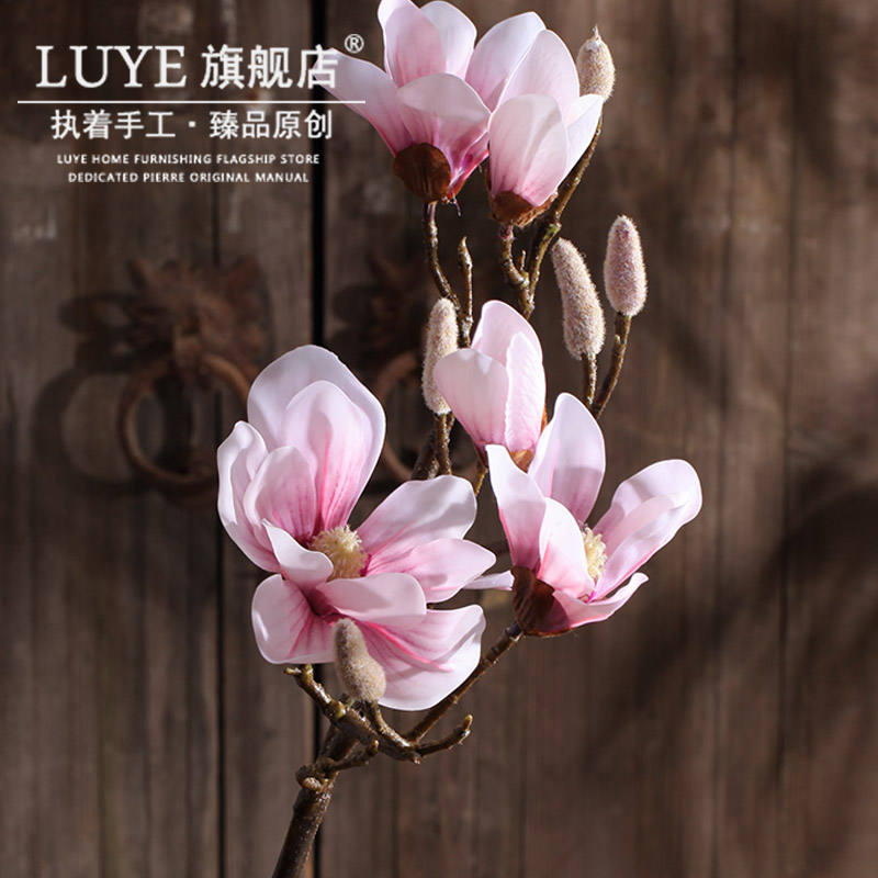 China jasmine artificial flowers china jasmine artificial flowers get quotations foreign trade of high artificial flowers magnolia living room decorative vase overall floral silk flower artificial mightylinksfo