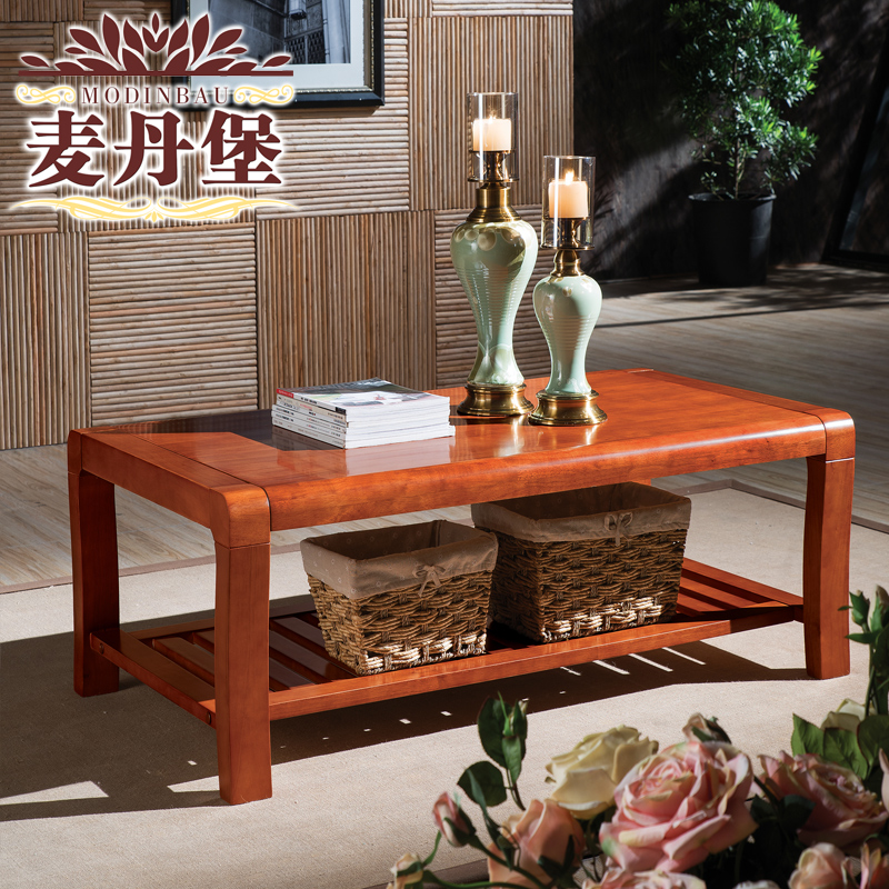 Fort mactan modern new chinese oak solid wood coffee table wood coffee table solid wood furniture living room coffee table