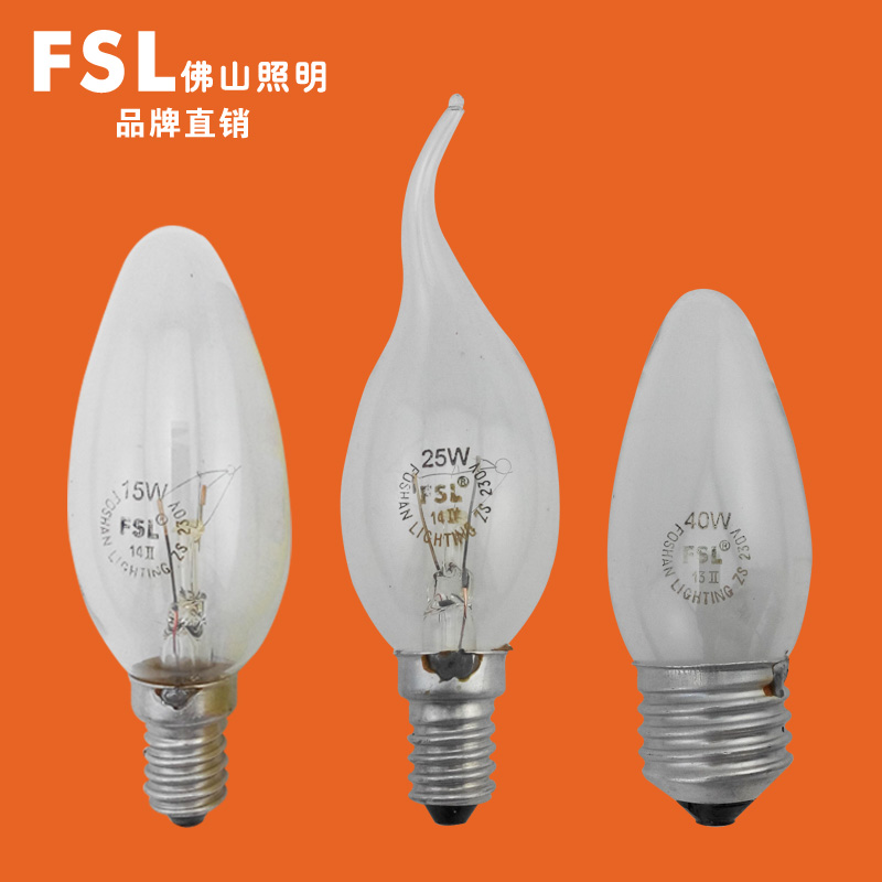 Foshan lighting incandescent tungsten filament light pull tail tip bubble candle 15w25w40 watt e27e14 bulb fsl mushrooms