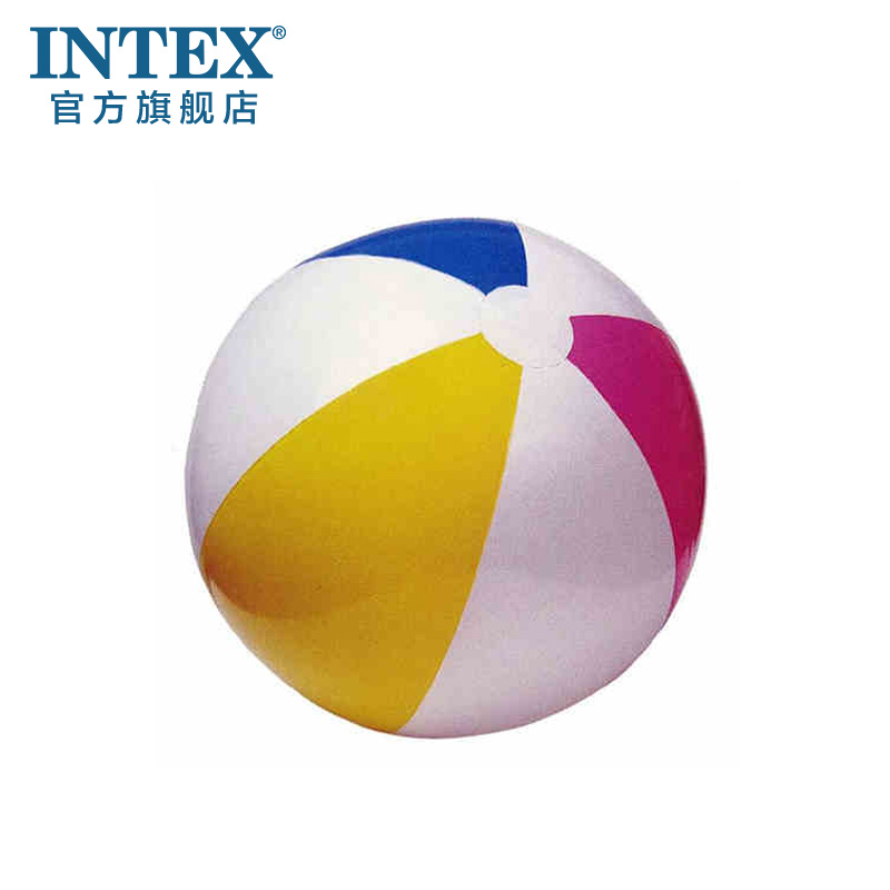 Four color intex beach ball 59010/59020/59030 transparent inflatable ball beach ball 3 kinds of sizes