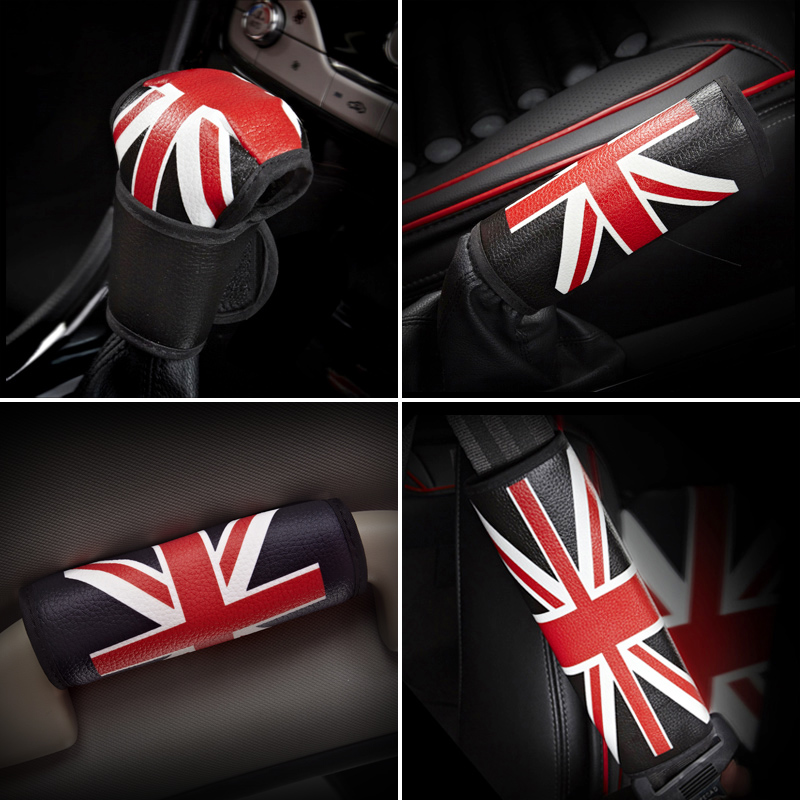Four seasons general car seat belt shoulder pad sets fashion british style car seat belt cover car accessories car decoration