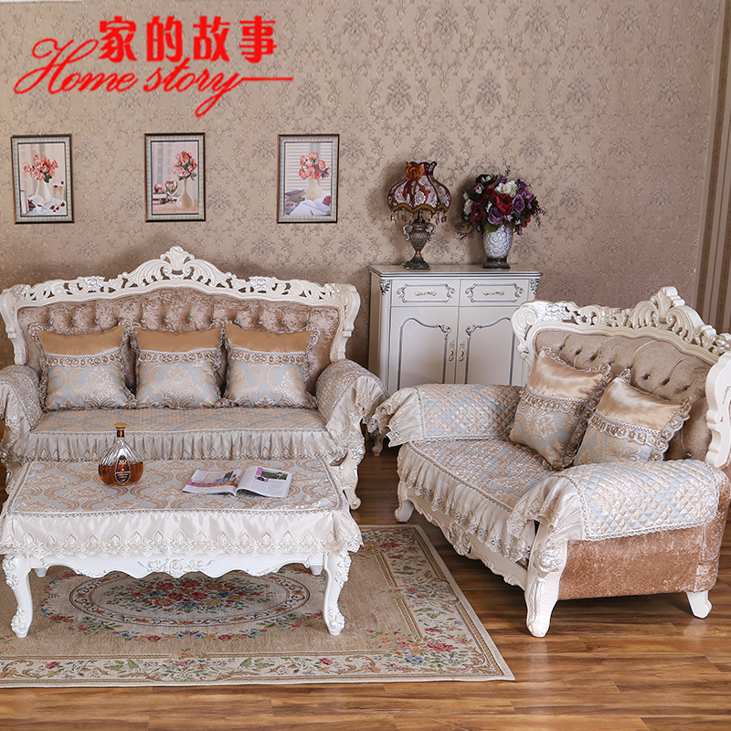Get Quotations Four Seasons Linen Cushion Sofa European Minimalist Modern Slipcover Slip Cloth