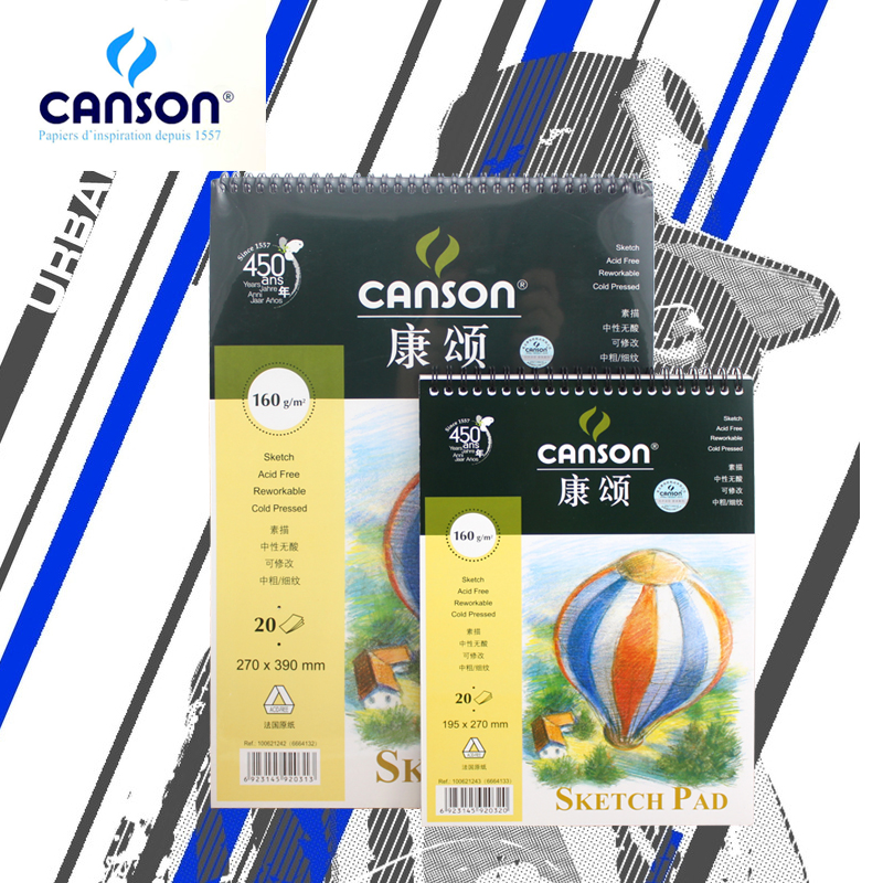 France canson canson canson sketch sketchbook sketch sketchbook 160g 20 sheets of 8 k/16 k