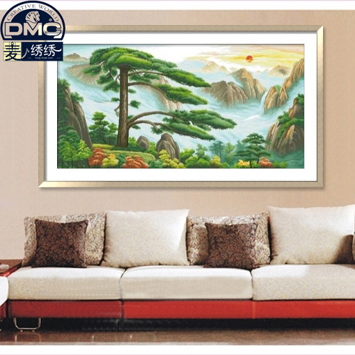 France dmc cross stitch kit monopoly boutique china wind living room precision printing landscape rising sun yingkesong