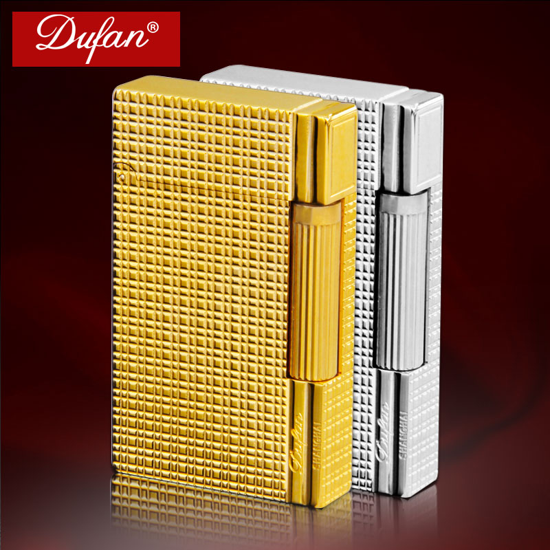 France dufan vatican broke lighter gas lighter copper creative men and windproof lighter inflatable wheel can be engraved words