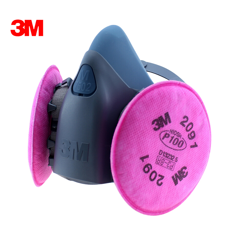 Free shipping 3m7502 with 2091 p100 particulate dust masks dust masks protective mask welding fume fiberglass