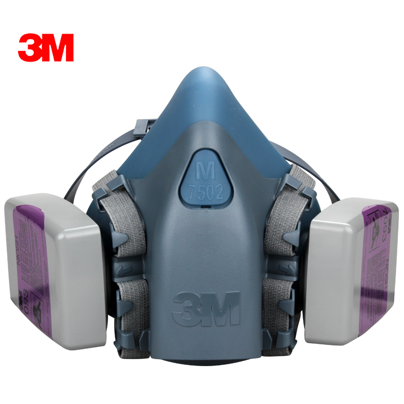 Free shipping 3m7502 with 7093 industrial fiberglass electric welding smoke p100 particulate dust masks protective masks