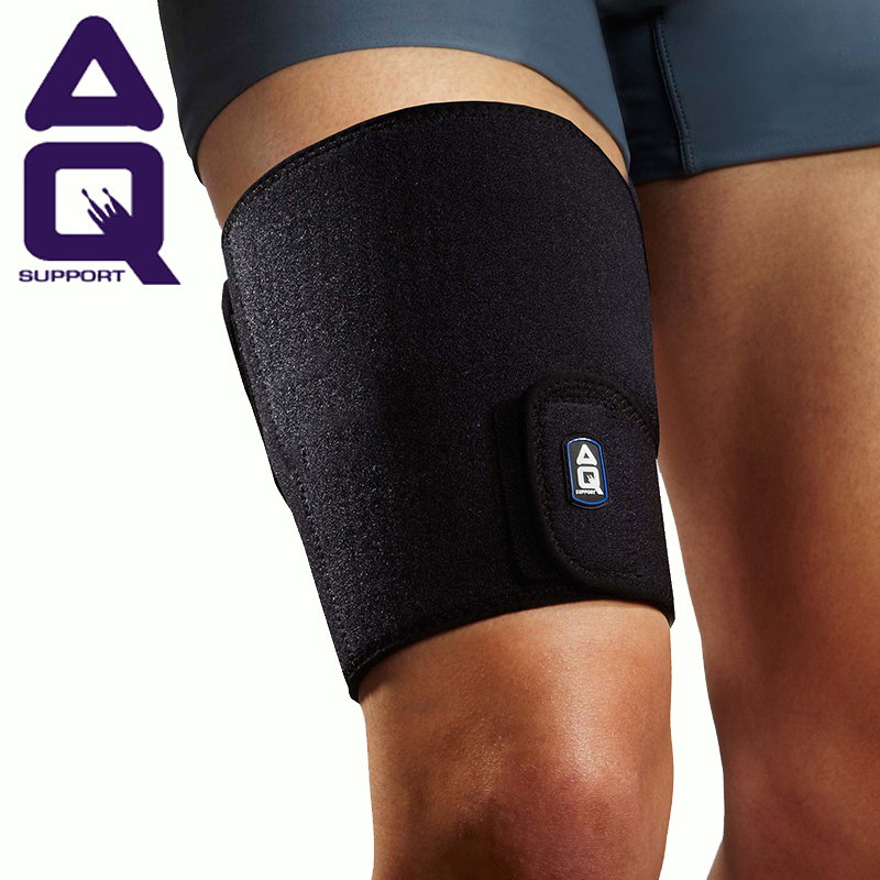 Free shipping authentic aq legguard thick warm thigh brace basketball badminton riding running sports protective male line