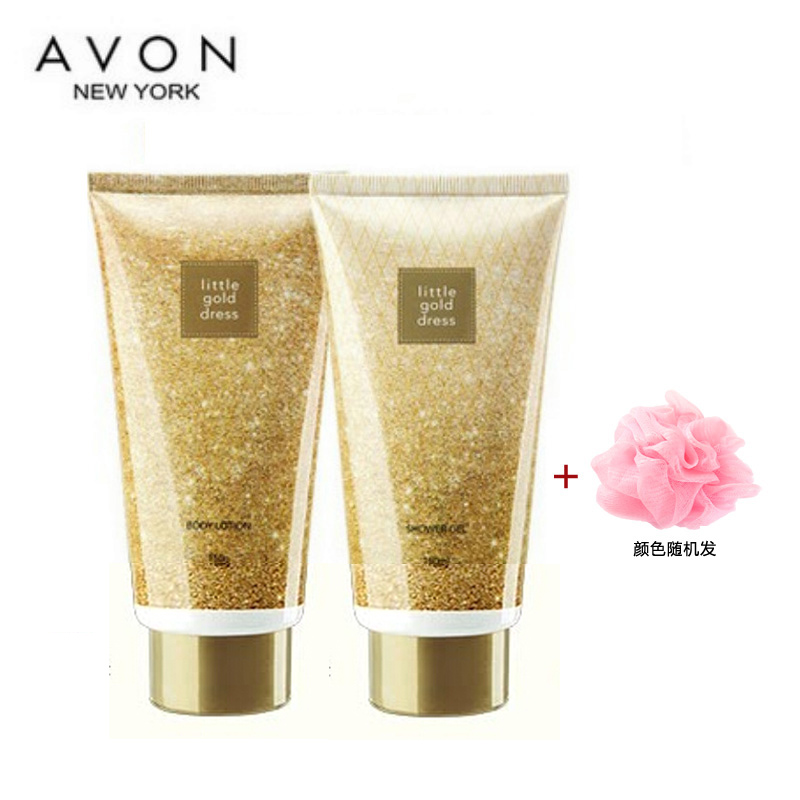 Free shipping authentic avon/avon oscars dress body lotion ml shower gel send send bath ball combination